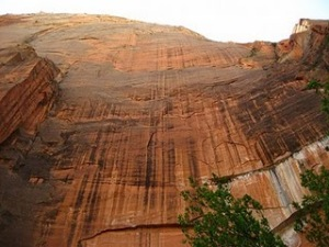 Sheer cliff